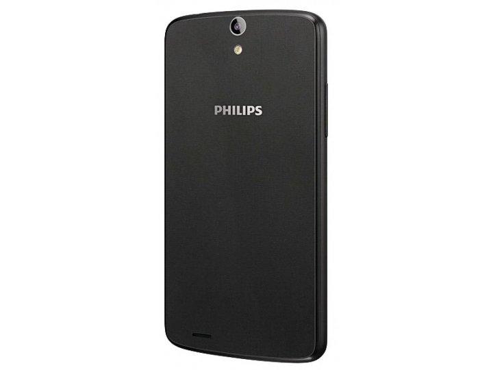 Родная оригинальная задняя крышка-панель которая шла в комплекте для Philips Xenium V387 черная..