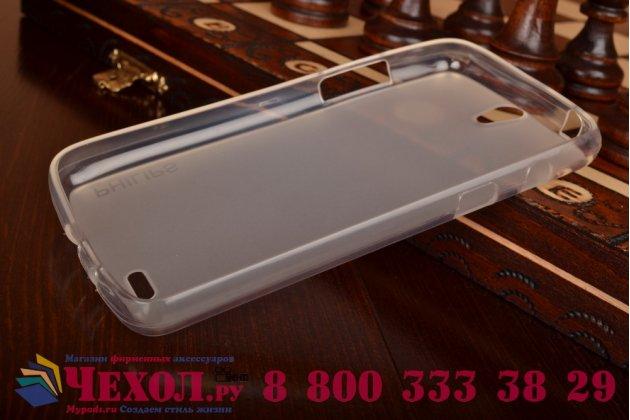Фирменная ультра-тонкая полимерная из мягкого качественного силикона задняя панель-чехол-накладка для Philips Xenium V387 белая