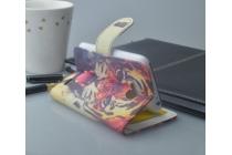 """Фирменный уникальный необычный чехол-подставка с визитницей кармашком на Philips Xenium W732 """"тематика Тигр"""""""