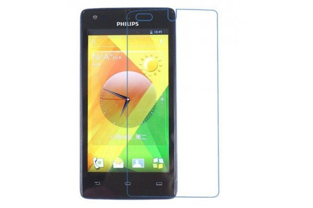 Фирменная оригинальная защитная пленка для телефона Philips Xenium W737 глянцевая