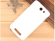 Фирменная задняя панель-крышка-накладка из тончайшего и прочного пластика для Philips I928 белая..