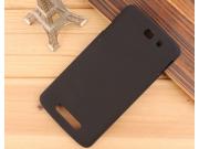 Фирменная задняя панель-крышка-накладка из тончайшего и прочного пластика для Philips I928 черная..