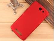 Фирменная задняя панель-крышка-накладка из тончайшего и прочного пластика для Philips I928 красная..