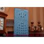 Фирменный роскошный эксклюзивный чехол с объёмным 3D изображением рельефа кожи крокодила синий для  Philips I9..