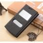 Фирменный чехол-книжка для Philips Xenium I908 черный с окошком для входящих вызовов и свайпом водоотталкивающ..