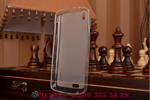 Фирменная ультра-тонкая полимерная из мягкого качественного силикона задняя панель-чехол-накладка для Philips Xenium I908 белая