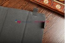 Чехол-обложка для PiPO M9 3G черный с серой полосой кожаный