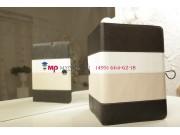 Чехол-обложка для PiPO M9 3G черный с серой полосой кожаный..