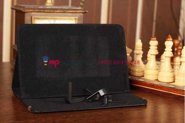 Чехол-обложка для Prestigio MultiPad PMP5580C черный кожаный