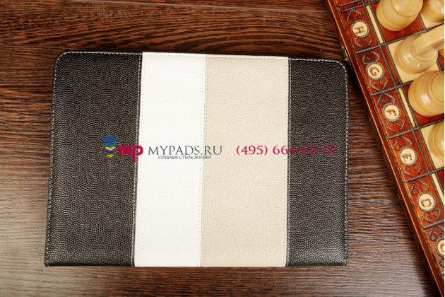 """Чехол-обложка для Prestigio MultiPad PMP7100D 3G черный кожаный """"Deluxe"""""""