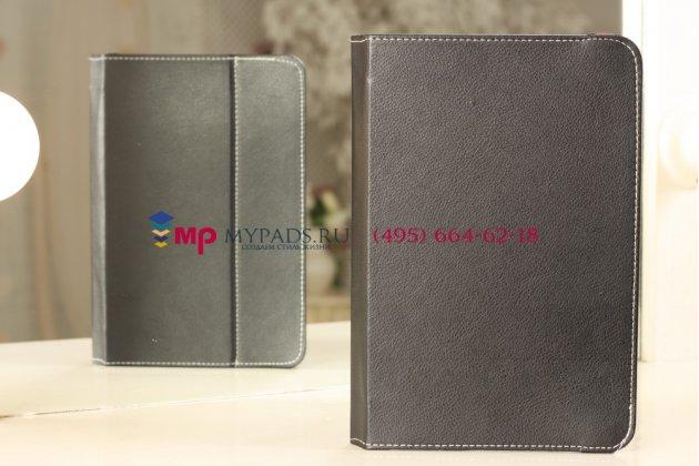 Чехол-обложка для Prestigio MultiPad PMP7100D 3G черный кожаный
