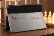 Чехол-обложка для Prestigio MultiPad 4 PMP5785C 3G черный кожаный