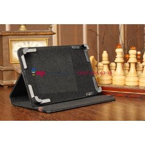 Чехол-обложка для Prestigio MultiPad PMP5570 черный кожаный