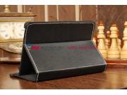 Чехол-обложка для Prestigio Multipad PMP3670B черный кожаный ..