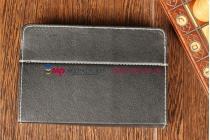 Чехол-обложка для Prology Evolution Note-700 черный кожаный