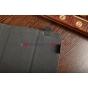 Чехол-обложка для Prology Evolution Tab-1000 3G HD коричневый с оранжевой полосой кожаный