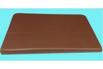 Фирменный оригинальный чехол-обложка для Qumo Sirius 890 с вырезом под камеру коричневый