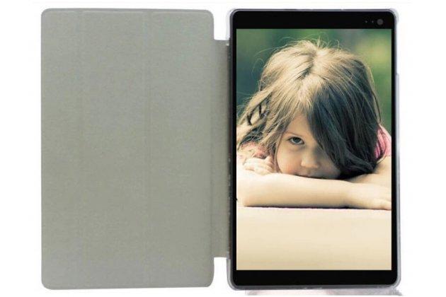 Фирменный оригинальный чехол-обложка для BQ 8004G с вырезом под камеру черный