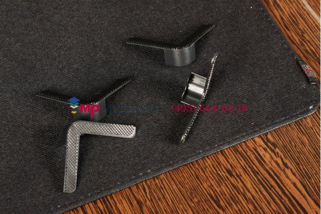 Чехол-обложка для Qumo Infinity черный кожаный