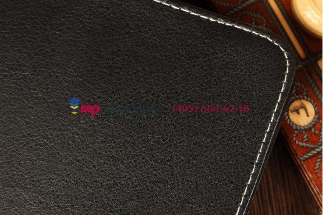 Чехол-обложка для Ritmix RMD-1029 черный кожаный