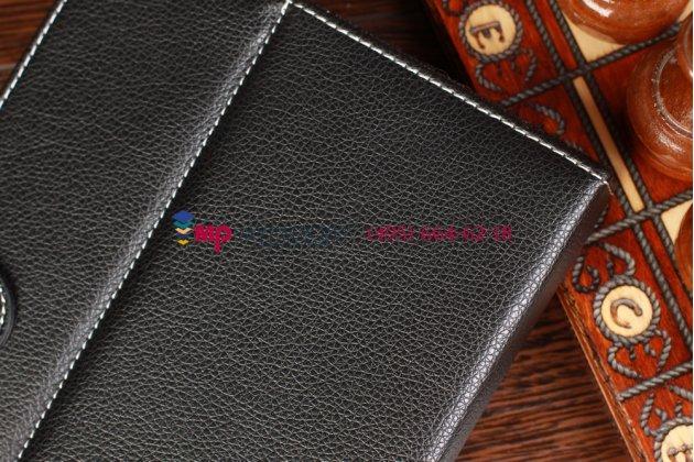 Чехол-обложка для Ritmix RMD-757 черный кожаный