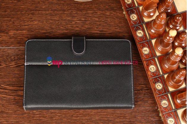 Чехол-обложка для Ritmix RMD-900 черный кожаный
