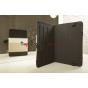 Чехол-обложка для Ritmix RBK-497 черный с серой полосой кожаный
