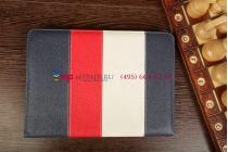"""Чехол-обложка для Ritmix RMD-1040 синий кожаный """"Deluxe"""""""