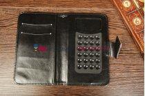 Чехол-книжка для Ritmix RMP-520 черный кожаный