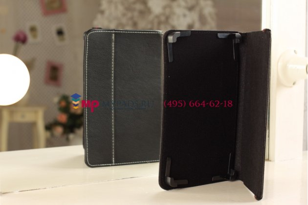 Чехол-обложка для Ross and Moor RMD-878G черный кожаный