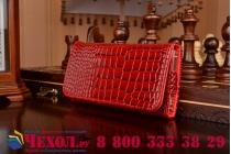 Фирменный роскошный эксклюзивный чехол-клатч/портмоне/сумочка/кошелек из лаковой кожи крокодила для телефона Rover PC Optima 5.0. Только в нашем магазине. Количество ограничено