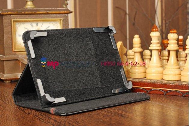 Чехол-обложка для RoverPad 3W9.4 3G черный кожаный