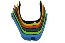 """Фирменный необычный сменный силиконовый ремешок  для фитнес-браслета Rovermate Fit 05"""" разноцветный"""