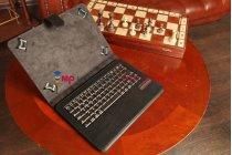 Фирменный чехол со съёмной Bluetooth-клавиатурой для Sony Xperia Tablet Z черный кожаный + гарантия