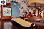 Фирменный оригинальный вертикальный откидной чехол-флип для Samsung Galaxy Note Edge SM-N915F черный кожаный