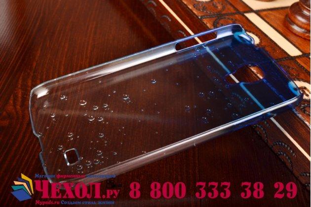 Фирменная из тонкого и лёгкого пластика задняя панель-чехол-накладка для Samsung Galaxy S4 GT-i9500/i9505 прозрачная с эффектом дождя