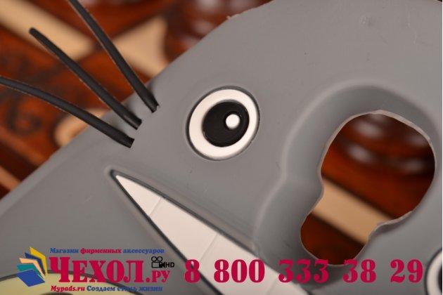 """Фирменная необычная мягкая задняя панель-чехол-накладка для Samsung Galaxy S4 GT-i9500/i9505  """"тематика толстая весёлая мышь"""""""