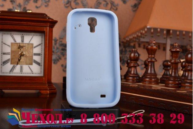 """Фирменная необычная уникальная полимерная мягкая задняя панель-чехол-накладка для Samsung Galaxy S4 GT-i9500/i9505 """"тематика Андроид в черничном шоколаде"""""""