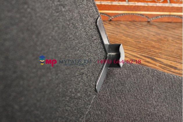 Чехол-обложка для SUPRA M724G черный кожаный