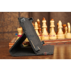 Чехол-обложка для SUPRA SD 700 черный кожаный