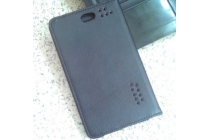Фирменный оригинальный чехол-обложка для SUPRA M728G с вырезом под камеру черный
