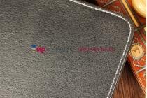 Чехол-обложка для SUPRA M127G черный кожаный