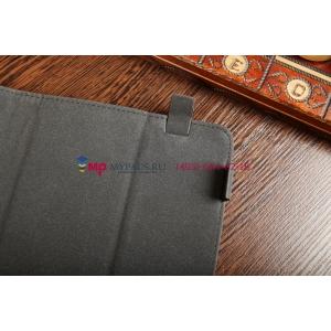 """Чехол-обложка для SUPRA M127G черный кожаный """"Deluxe"""""""