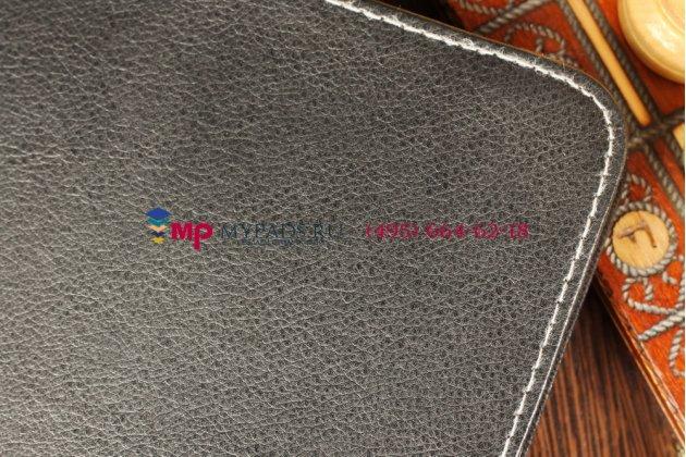 Чехол-обложка для SUPRA M720 черный кожаный