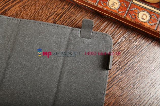 """Чехол-обложка для SUPRA M722G синий кожаный """"Deluxe"""""""
