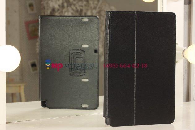 Фирменный оригинальный чехол для Samsung ATIV Smart PC Pro XE700T1C черный кожаный