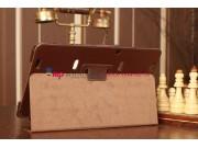 Фирменный чехол-книжка для Samsung Ativ Smart PC Pro XE700T1C коричневый кожаный..