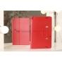 Фирменный чехол-футляр для Samsung Ativ Smart PC Pro XE700T1C красный кожаный..