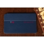 Фирменный чехол-сумка для Samsung Ativ Smart PC Pro XE700T1C синий кожаный