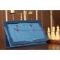 Фирменный чехол-сумка для Samsung Ativ Smart PC Pro XE700T1C синий кожаный..